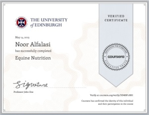 equine nutrition certificate